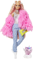 Wholesalers of Barbie Extra Fluffy Pink Jacket Doll toys image 2