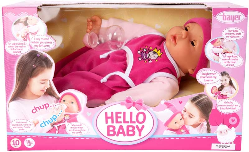 Wholesalers of Bayer Hello Baby Function Doll 46cm toys