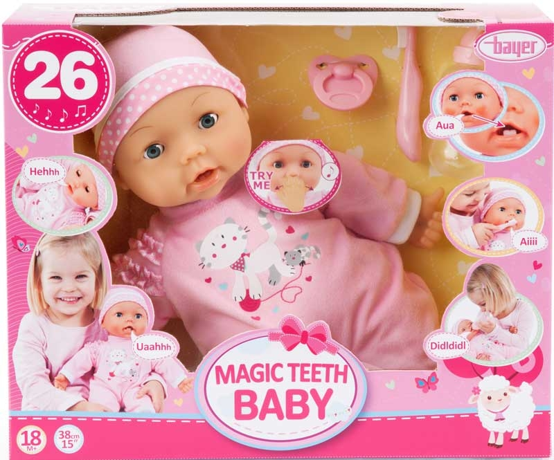 Wholesalers of Bayer Magic Teeth Baby 38cm toys