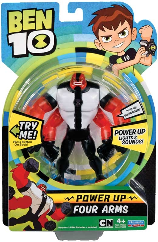 Wholesalers of Ben 10 Deluxe Power Up Figures - Four Arms toys