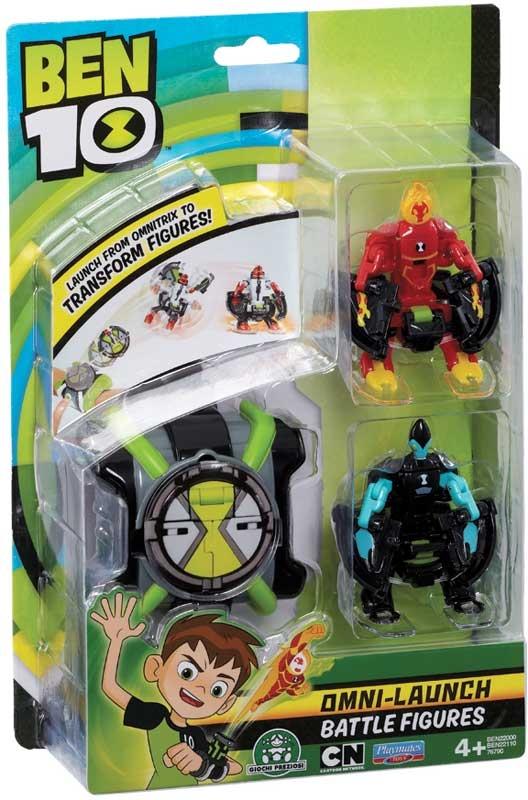 Wholesalers of Ben 10 Omni Launcher & Battle Figures - Heatblast & Xlr8 toys