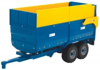 Wholesalers of Big Farm Halfpipe Kane Silage Trailer toys image