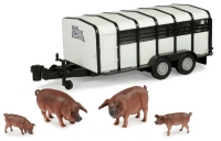 Wholesalers of Big Farm Pig Trailer With Pigs toys image