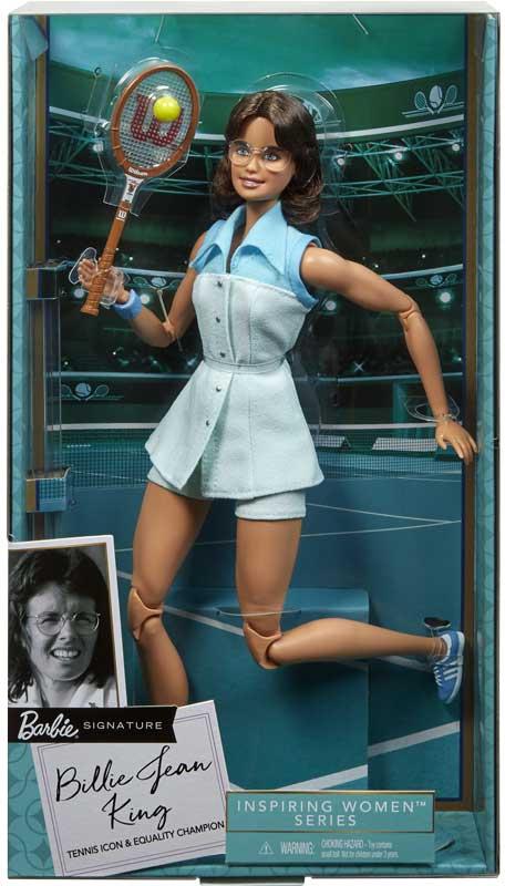 Wholesalers of Billie Jean King Barbie Inspiring Women Doll toys