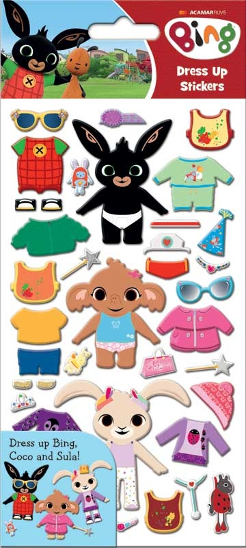 Wholesalers of Bing Dress Up Stickers toys