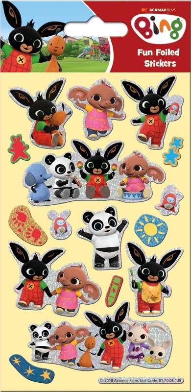 Wholesalers of Bing Foil Stickers toys