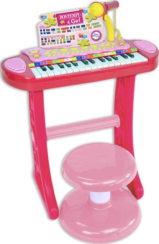 Wholesalers of Bontempi Electronic Keyboard With Microphone And Stool - I G toys