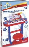 Wholesalers of Bontempi Electronic Keyboard With Microphone And Stool toys image