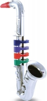 Wholesalers of Bontempi Silver Saxophone 4 Notes 37cm toys image