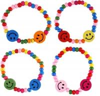 Wholesalers of Bracelet Wood Smile 16cm Asst Cols toys image