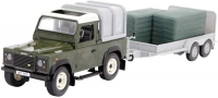 Wholesalers of Britains Big Farm Land Rover With Trailer And Green Bales toys image