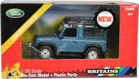 Wholesalers of Britains Land Rover Defender With Roof Rack And Winch toys image