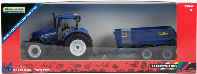 Wholesalers of Britains New Holland T6 Tractor With Trailer Play Set toys