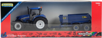 Wholesalers of Britains New Holland T6 Tractor With Trailer Play Set toys Tmb
