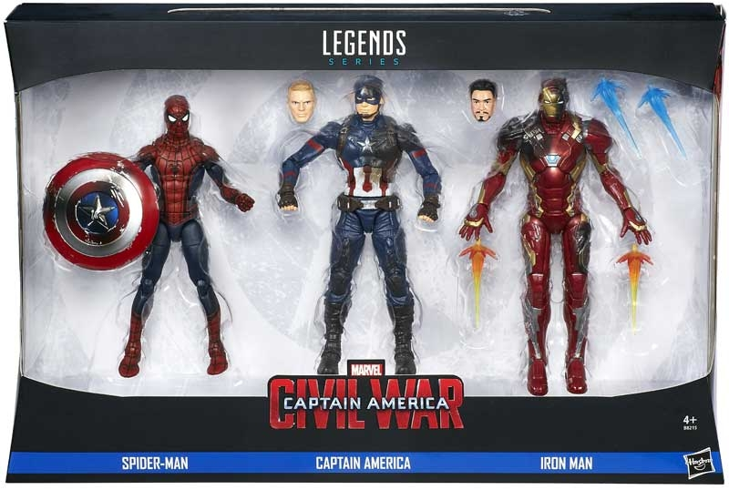 Wholesalers of Captain America Cw 6inch Legends Series 3 Pack toys
