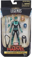 Wholesalers of Captain Marvel 6in Legends Sycamore Silver toys image 2