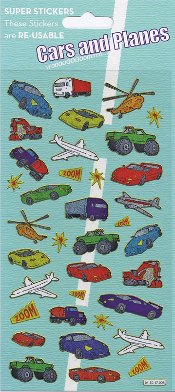 Wholesalers of Cars And Planes Large Sparkle Stickers toys