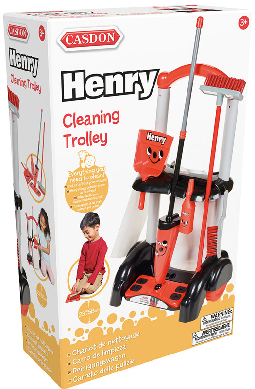 Wholesalers of Casdon Henry Cleaning Trolley toys