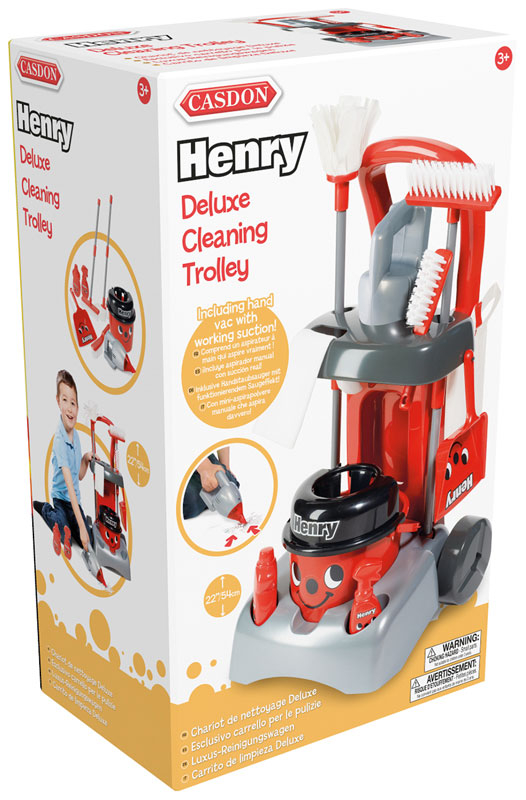 Wholesalers of Casdon Henry Deluxe Cleaning Trolley toys