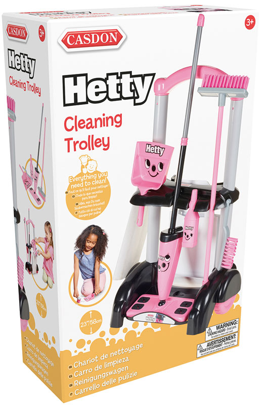 Wholesalers of Casdon Hetty Cleaning Trolley toys