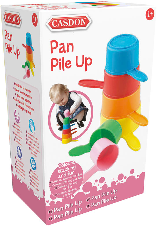 Wholesalers of Casdon Pan Pile Up toys