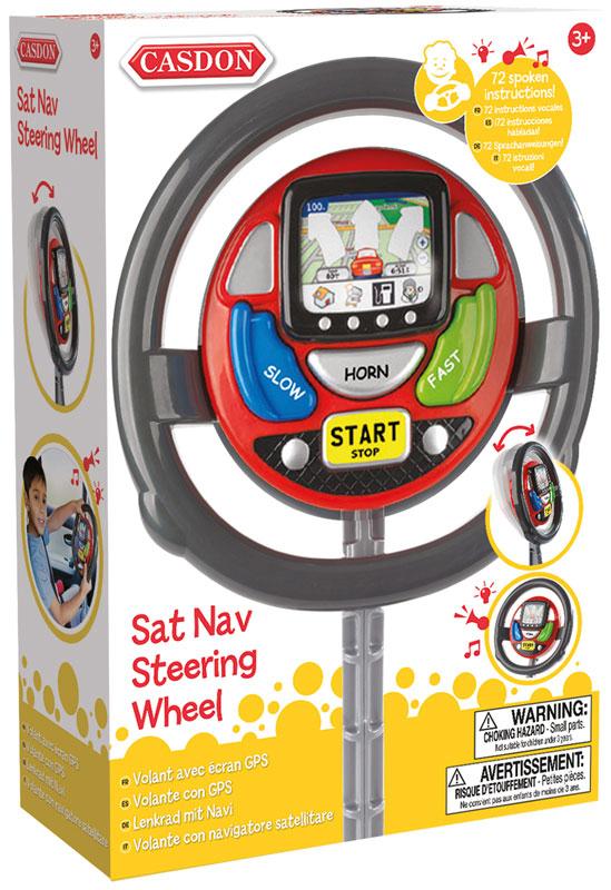 Wholesalers of Casdon Sat Nav Steering Wheel toys
