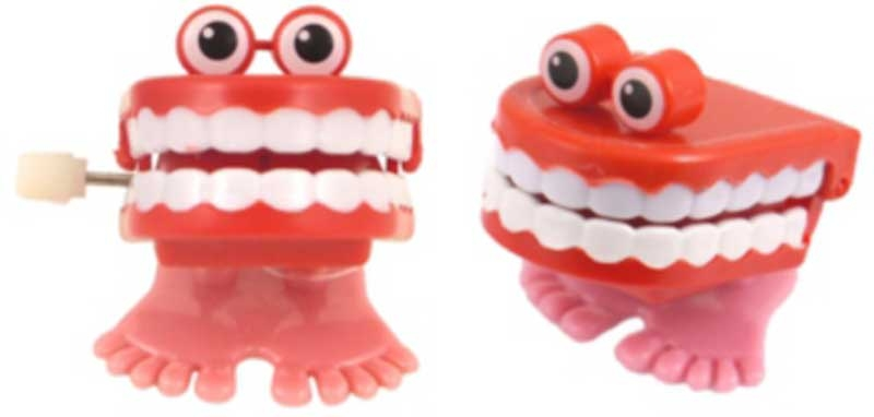 Wholesalers of Chatting Teeth Clockwork 4cm With Eyes toys