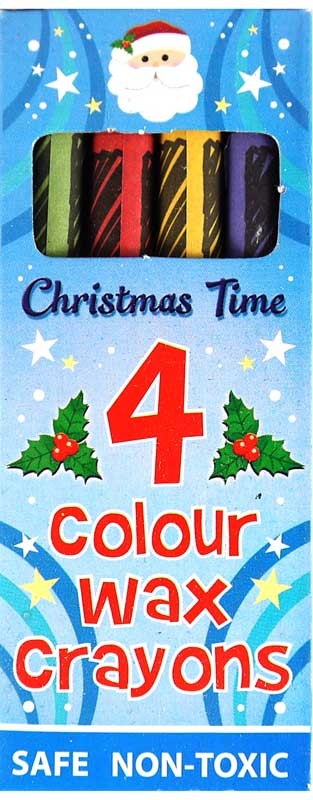 Wholesalers of Christmas Crayon Wax 4 Pc Box toys