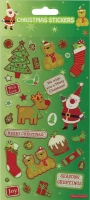Wholesalers of Christmas Greetings Stickers Lrg toys image