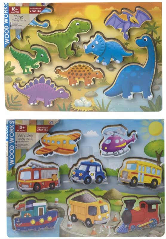 Wholesalers of Chunky Puzzle Dino And Vehicles toys