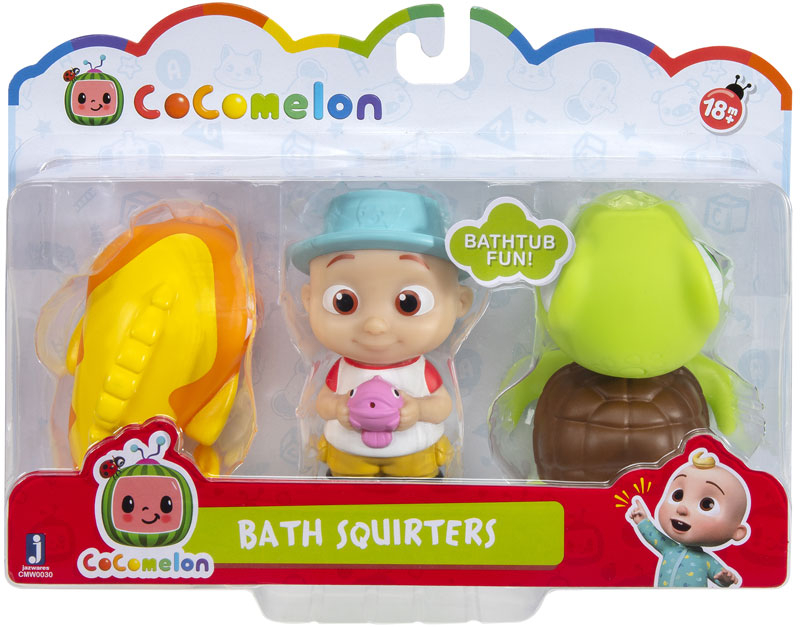 Wholesalers of Cocomelon Bath Squirters Assortment toys