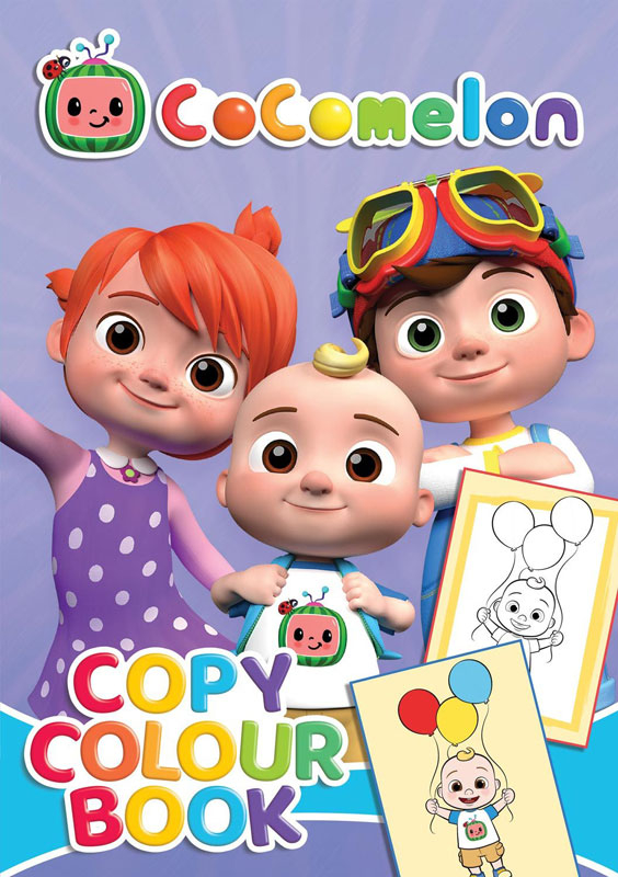 Wholesalers of Cocomelon Copy Colour Book toys