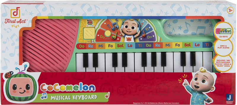 Wholesalers of Cocomelon First Act Instrument Keyboard toys