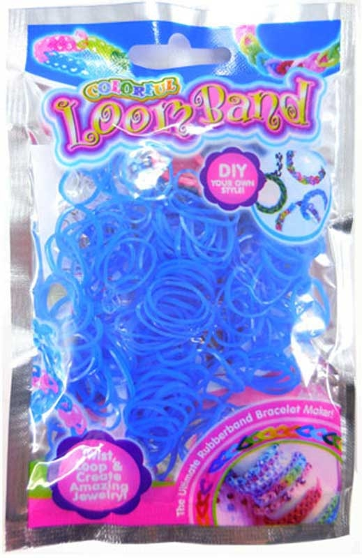 Wholesalers of Colourful Loom Bands - Blue Freeze toys