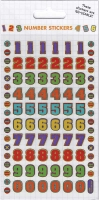 Wholesalers of Colourful Numbers Stickers toys image