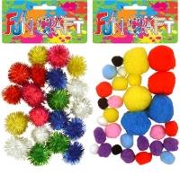 Wholesalers of Craft Kit Pom Poms Asst toys image