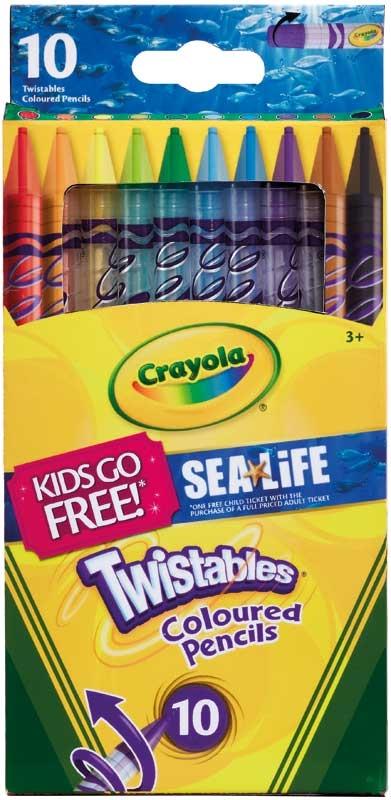 Wholesalers of Crayola 10 Twistable Pencils toys