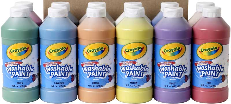 Wholesalers of Crayola Washable Paint Colours Asst - 473 Ml toys