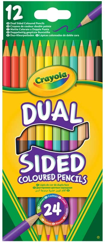 Wholesalers of Crayola 12 Dual Sided Coloured Pencils toys