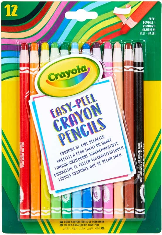 Wholesalers of Crayola 12 Easy Peel Crayon Pencils toys