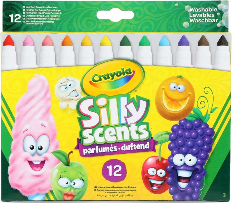 Wholesalers of Crayola 12 Silly Scents Broadline Sweet Markers toys