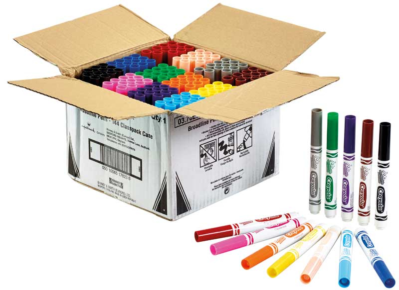Wholesalers of Crayola 144 Assorted Broad Line Markers Classpack toys