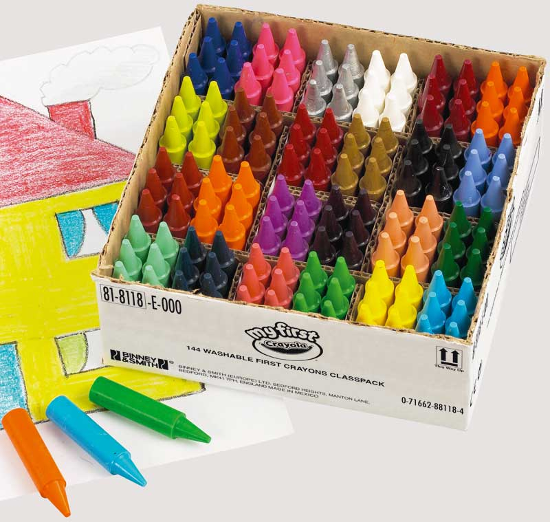 Wholesalers of Crayola 144 Assorted My First Crayon Classpack toys