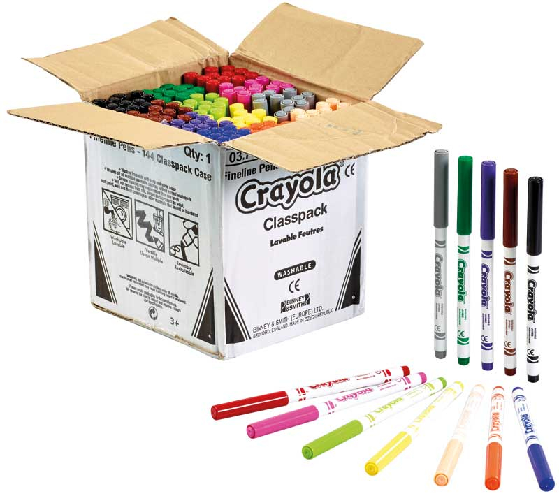 Wholesalers of Crayola 144 Assorted Supertips Classpack toys