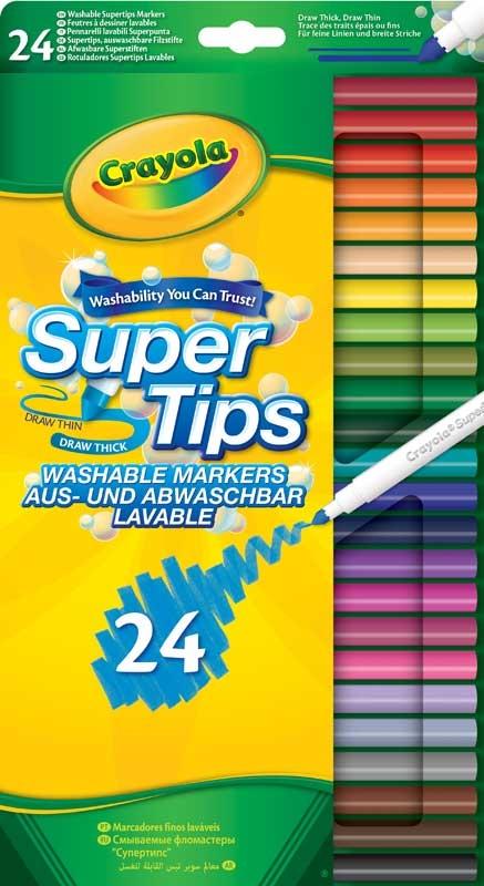 Wholesalers of Crayola 24 Washable Super Tips toys