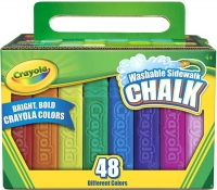 Wholesalers of Crayola 48 Washable Sidewalk Chalk toys image