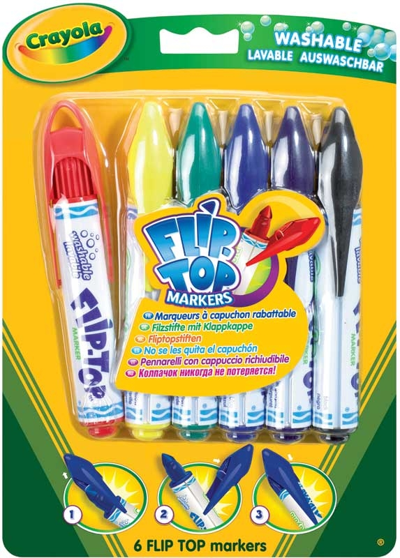 Wholesalers of Crayola 6 Flip Top Markers toys