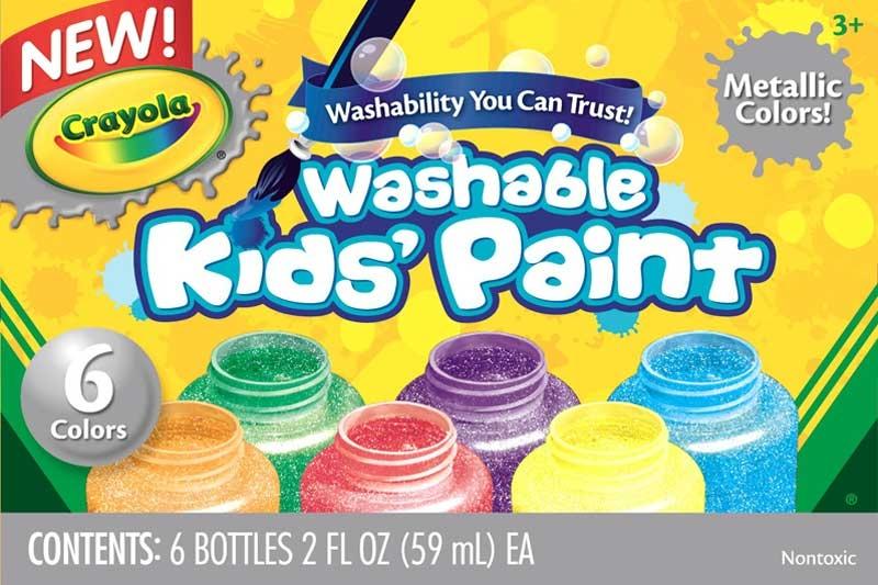 Wholesalers of Crayola 6 Washable Metallic Paints toys