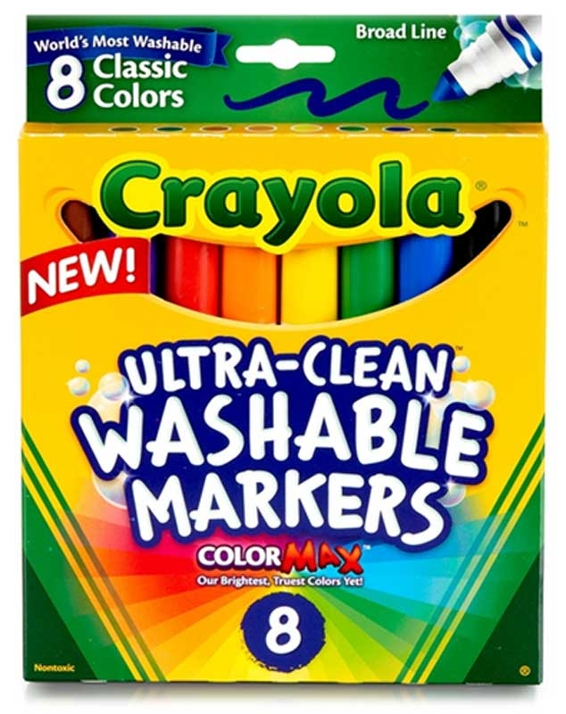 Wholesalers of Crayola 8 Asst Ultra Clean Washable Markers toys
