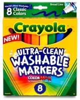 Wholesalers of Crayola 8 Asst Ultra Clean Washable Markers toys image